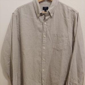 Mens light grey J.Crew button up shirt